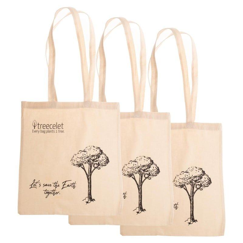 Paket 3 bombažnih vrečk = 3 drevesa