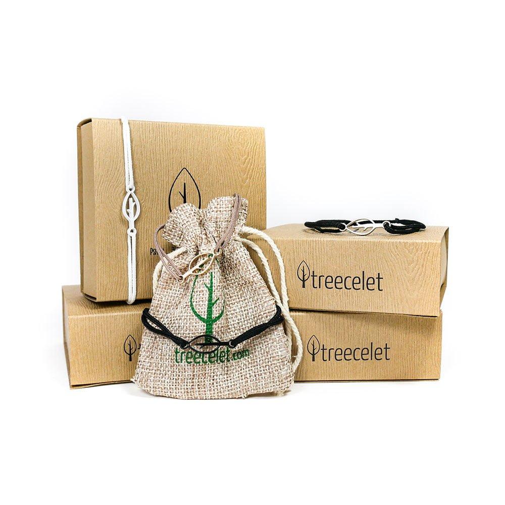 Paket 4 zapestnic za sajenje dreves + darilne škatlice